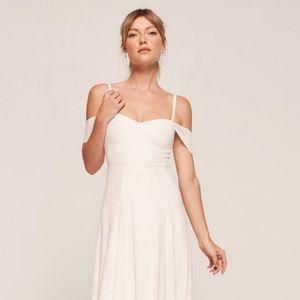 Reformation Poppy Dress in Ivory (Size 8)